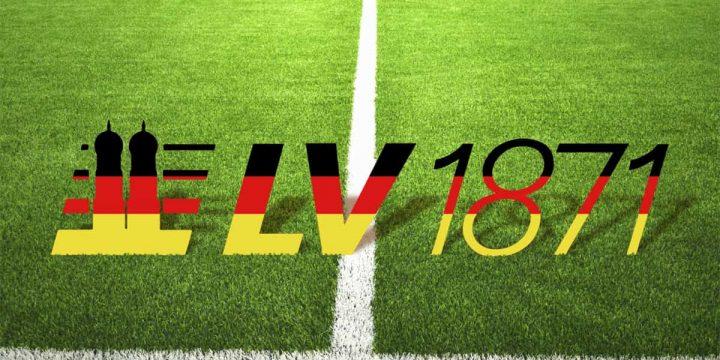 Logo der LV 1871 auf Fußballrasen