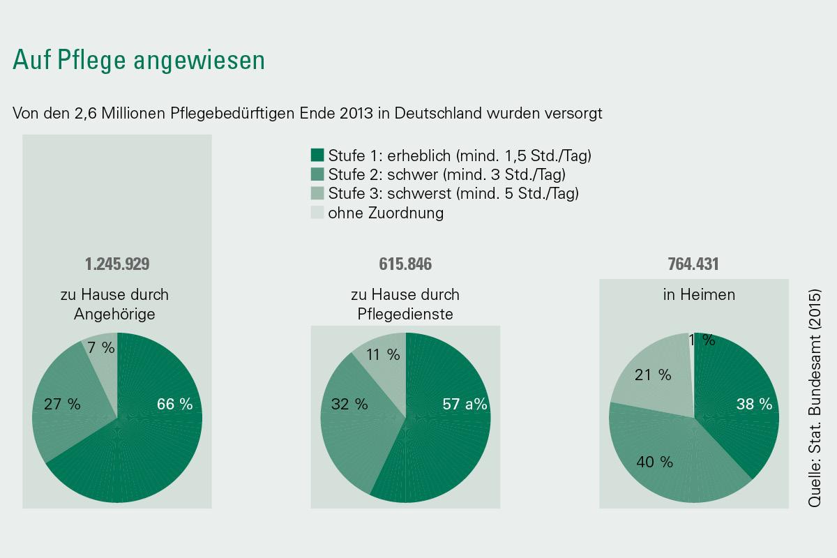Grafik Bevölkerungsentwicklung und Pflegebedürftige