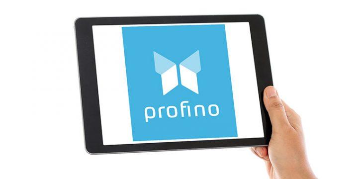Logo Profino auf Tablet