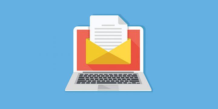 Vermittlerpost digital auf einem Laptop