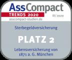 Sterbegeld AssCompact Siegel 2020 Platz 2