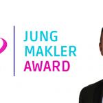 Foto Enrico Bernhardt und Logo Jungmakler Award