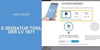E-Signatur Tool der LV 1871