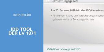 Kurz erklärt: IDD Tool der LV 1871