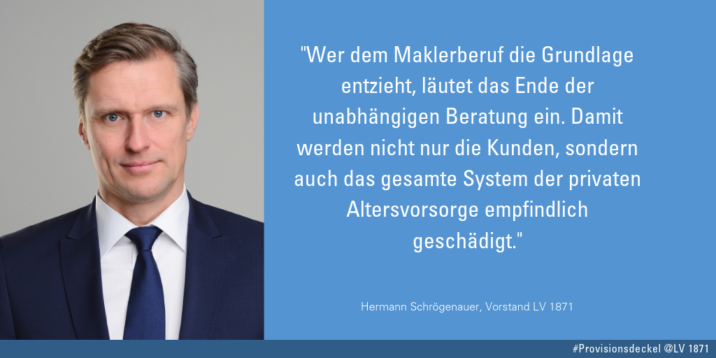 Provisionsdeckel Zitat von Hermann Schrögenauer