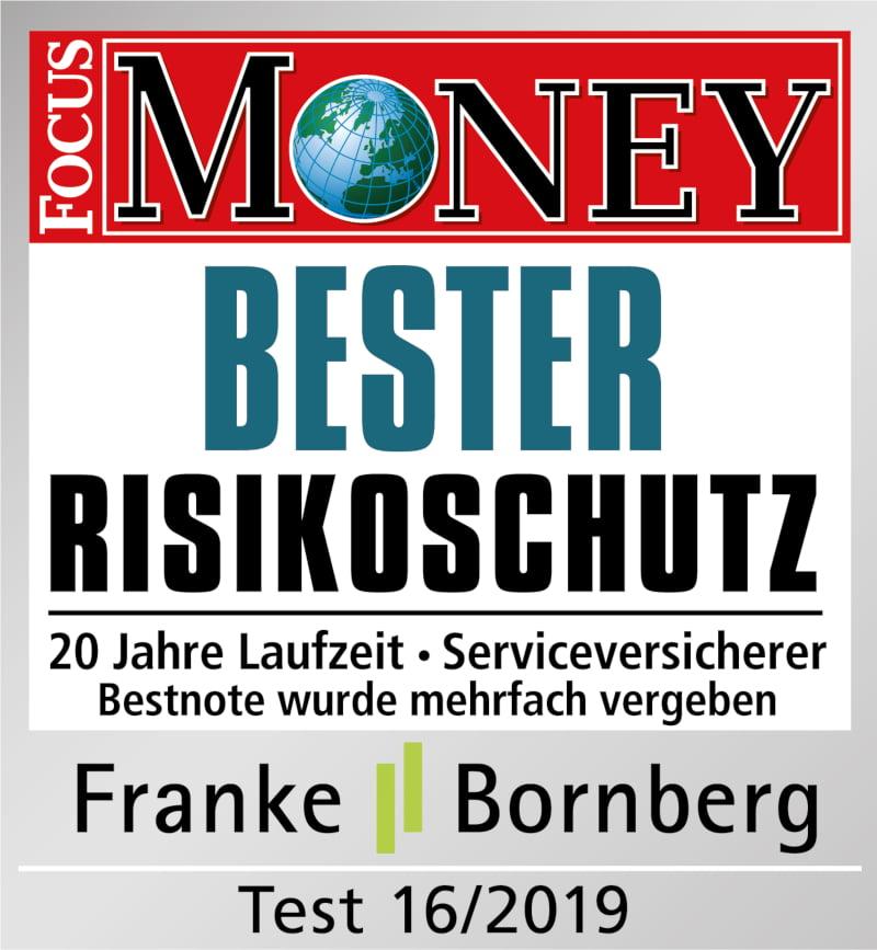 """Auszeichnung """"Bester Risikoschutz"""""""