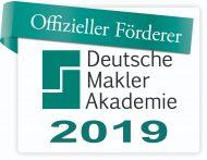 Siegel - Offizieller Förderer Deutsche Makler Akademie