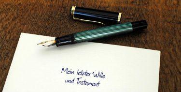 Füller auf Testament