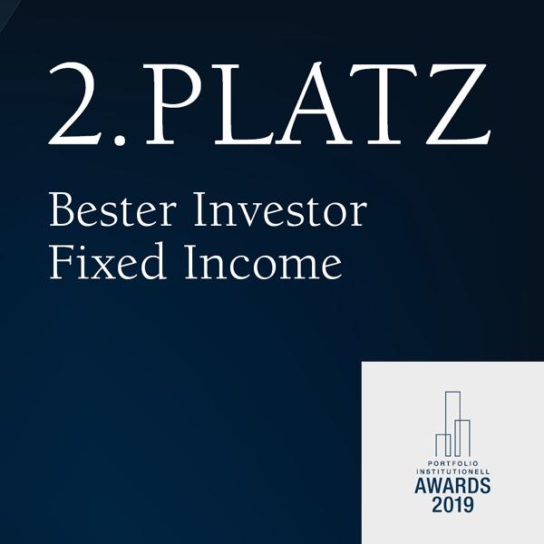 Verleihung 2. Platz Bester Investor Fixed Income