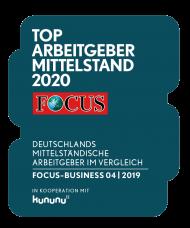 Top Arbeitgeber 2020 FOCUS