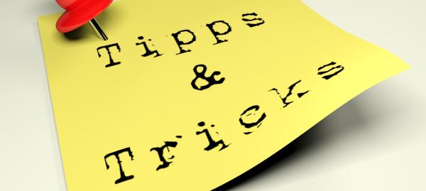 Notiz Tipps und Tricks