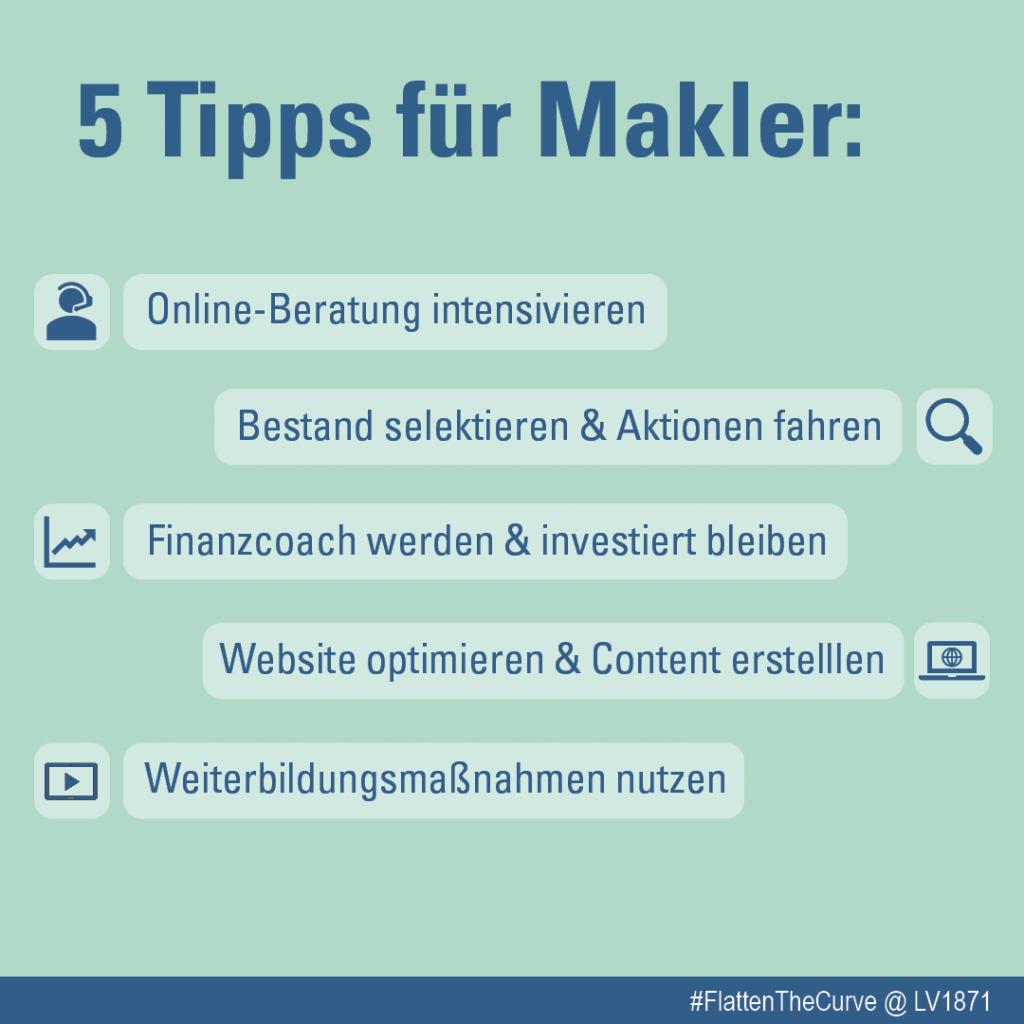 Infografik 5 Tipps für Makler