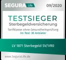 Siegel SeguraLife Testsieger LV 1871 Sterbegeld